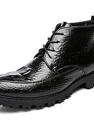 Недорогие -Муж. обувь Лакированная кожа Зима Осень Армейские ботинки Ботильоны Модная обувь Ботинки Ботинки для Повседневные Для вечеринки / ужина