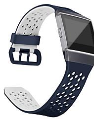 preiswerte -Uhrenarmband für Fitbit ionic Fitbit Handschlaufe Sport Band Klassische Schnalle Silikon