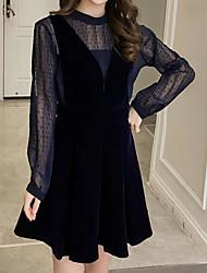 Set Robes Costumes Femme,Imprimé Décontracté / Quotidien simple Hiver Automne Manches longues Col Ras du Cou énorme Coton Micro-élastique
