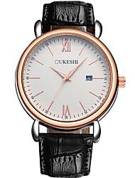 Недорогие -Муж. Модные часы Наручные часы Китайский Кварцевый Календарь Кожа Группа На каждый день минималист Черный Коричневый