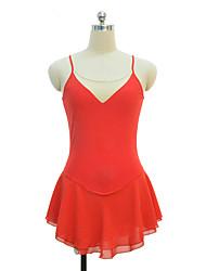 abordables -Robe de Patinage Artistique Femme / Fille Patinage Robes Orange Spandex Non Elastique Utilisation / Exercice Tenue de Patinage Couleur