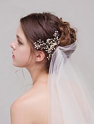 cheap -Imitation Pearl Rhinestone Hair Combs Flowers with Rhinestone Imitation Pearl Flower 1pc Wedding Special Occasion Birthday Headpiece