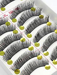 cheap -10 pcs lash Makeup Tools False Eyelashes Makeup Eyelash Daily Daily Makeup Natural Cosmetic Grooming Supplies