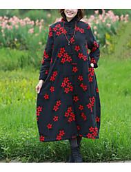 Недорогие -Жен. На каждый день Шинуазери (китайский стиль) На подкладке - Цветочные/ботанический, С принтом