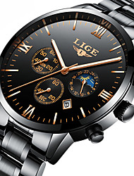 cheap -Men's Dress Watch Skeleton Watch Mechanical Watch Japanese Automatic self-winding Calendar / date / day Chronograph Water Resistant /