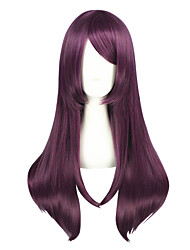 cheap -Synthetic Wig kinky Straight Purple Women's Capless Cosplay Wig Medium Synthetic Hair