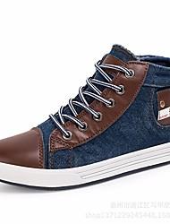 Para Meninos sapatos Lona Inverno Outono Conforto Tênis para Casual Azul