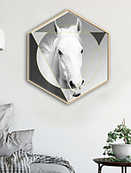 cheap -Animals Shapes Illustration Wall Art,PVC Material With Frame For Home Decoration Frame Art Living Room Bedroom Kitchen Dining Room Kids