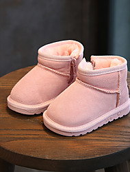 Girls' Shoes PU Winter Fall Snow Boots Fluff Lining Boots Booties/Ankle Boots Mid-Calf Boots LED for Casual Dress Black Gray Pink