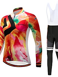 cheap -CYCOBYCO Cycling Jersey with Bib Tights Women's Long Sleeves Bike Pants / Trousers Jersey Tights Bib Tights Top Clothing Suits Winter