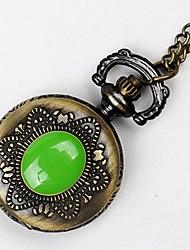 baratos -Casal Quartzo Relógio de Bolso Chinês Gravação Oca Relógio Casual Lega Banda Luxo Casual Caveira Bronze