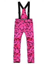 Hombre Mujer Pantalones de Esquí Templado Impermeable Resistente al Viento Listo para vestir Transpirabilidad Esquí Esquí Camping y