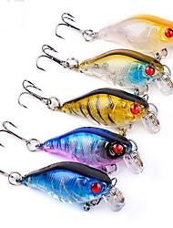 cheap -5 pcs Fishing Tools Crank Hard Bait Plastic Generic Classic Sea Fishing Trolling & Boat Fishing Lure Fishing