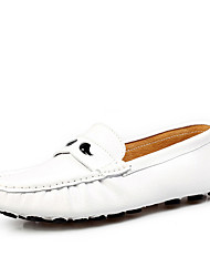 cheap -Men's Shoes Leather Winter Fall Moccasin Loafers & Slip-Ons for Casual Office & Career White Brown
