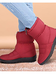 cheap -Women's Shoes Polyamide fabric Winter Fall Snow Boots Boots Round Toe Mid-Calf Boots for Casual Black Brown Red Green Blue