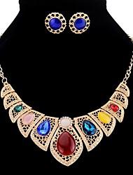 preiswerte -Damen Tropfen Schmuck-Set 1 Halskette / Ohrringe - Retro / Europäisch Gold / Silber Schmuckset Für Party / Formal