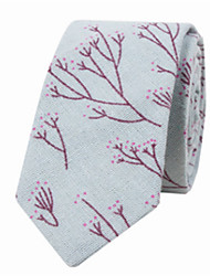 cheap -Men's Cotton Necktie,Casual Print All Seasons Light Blue