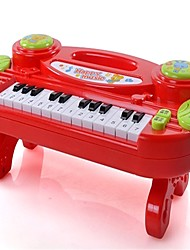 cheap -Toy Instruments Electronic Keyboard Toys Lighting Fun Rectangular Music Notes Engineering Plastics Pieces Children's Gift