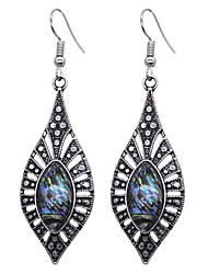 cheap -Women's Colorful Drop Earrings / Hoop Earrings - Vintage / Colorful / Fashion Silver Geometric Earrings For Party / Daily