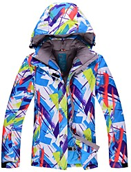 abordables -Mujer Chaqueta de Esquí Templado Impermeable Resistente al Viento Esquí A prueba de Viento Camping y senderismo Esquí Fuera del Camino