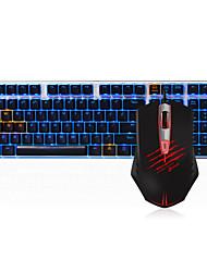 Недорогие -dareu проводная механическая клавиатура мышь черные переключатели 1,8 м шесть ключей 2000 точек на дюйм