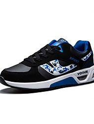 cheap -Men's Shoes PU Spring / Fall Comfort Athletic Shoes Running Shoes Black / White / Black / Blue