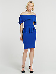 cheap -Women's Club Going out Holiday Sheath Dress - Solid Colored Backless Ruched Split Boat Neck