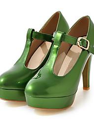 Недорогие -Жен. Обувь Полиуретан Весна / Лето Удобная обувь / Оригинальная обувь Обувь на каблуках На шпильке Заостренный носок Пряжки Оранжевый /