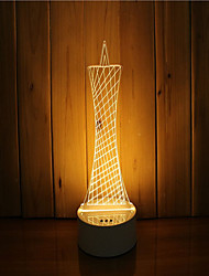cheap -1 Set Of 3D Mood Night Light Hand Feeling Dimmable USB Powered Gift Lamp Lighthouse