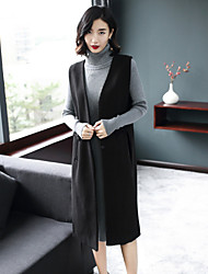 cheap -Women's Long Sweater - Solid Dress Stand