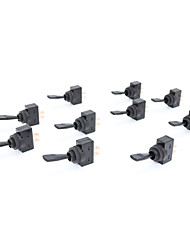 economico -10 pz 20a 12vdc 10a 125vac 2 pin on / off 12mm interruttore a diaframma