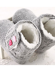 Baby Shoes Knit Winter Fall Comfort First Walkers Boots for Casual Fuchsia Gray