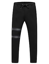 economico -Da uomo A vita medio-alta Semplice Media elasticità Chino Pantaloni,Tinta unita Poliestere Inverno Autunno