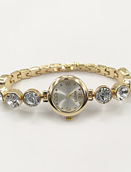 Women's Fashion Watch Bracelet Watch Quartz Rhinestone Imitation Diamond Alloy Band Charm Casual Elegant Gold