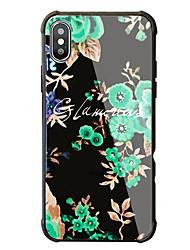 economico -Custodia Per Apple iPhone X iPhone 8 Resistente agli urti Fantasia/disegno Custodia posteriore Fiore decorativo Resistente Vetro temperato