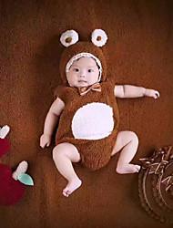 Baby Unisex Tøjsæt Daglig Ensfarvet,Bomuld Alle årstider Uden ærmer Simple Brun