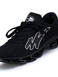 baratos -Homens sapatos Borracha Primavera Outono Conforto Tênis Corrida Cadarço de Borracha para Ao ar livre Preto Verde Azul
