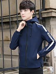 cheap -Men's Jacket - Letter Hooded / Long Sleeve