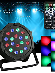 cheap -1pc 18W 1440lm 18 LEDs Remote Controlled Decorative LED Stage Light / Spot Light AC 100-240V