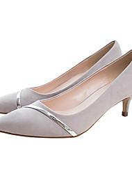 preiswerte -Damen Schuhe Stoff Frühling Herbst Pumps High Heels Stöckelabsatz Spitze Zehe für Normal Schwarz Grau Rosa