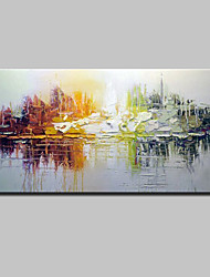 cheap -Hand-Painted Abstract Horizontal, Simple Modern Canvas Oil Painting Home Decoration One Panel