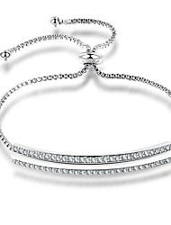 cheap -Women's Chain Bracelet Cubic Zirconia Elegant Fashion Korean Zircon Copper Geometric Jewelry Birthday Date Costume Jewelry