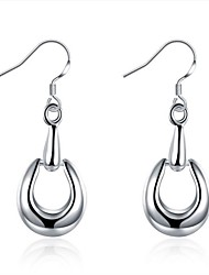 cheap -Women's Hoop Earrings - Silver Silver For Wedding / Daily