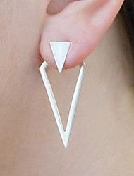cheap -Women's Stud Earrings Front Back Earrings Vintage Fashion Statement Jewelry Alloy Triangle Geometric Shape Jewelry Bar Club
