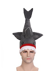cheap -Shark Hat Gray Bonded Cosplay Accessories Christmas / Halloween