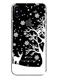 economico -Custodia Per Apple iPhone X iPhone 8 Transparente Fantasia/disegno Per retro Natale Morbido TPU per iPhone X iPhone 8 Plus iPhone 8
