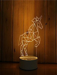 cheap -1 Set Of 3D Mood Night Light Hand Feeling Dimmable USB Powered Gift Lamp Wildebeest