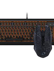 abordables -dareu filaire clavier mécanique souris sans fil bleu bascule six clés 1600dpi
