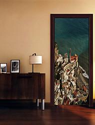 Недорогие -Пейзаж Мода Наклейки 3D наклейки Декоративные наклейки на стены, Винил Украшение дома Наклейка на стену Стена
