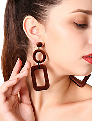 cheap -Women's Drop Earrings - Fashion, Oversized Gray / Brown / Green For Gift / Evening Party / Formal